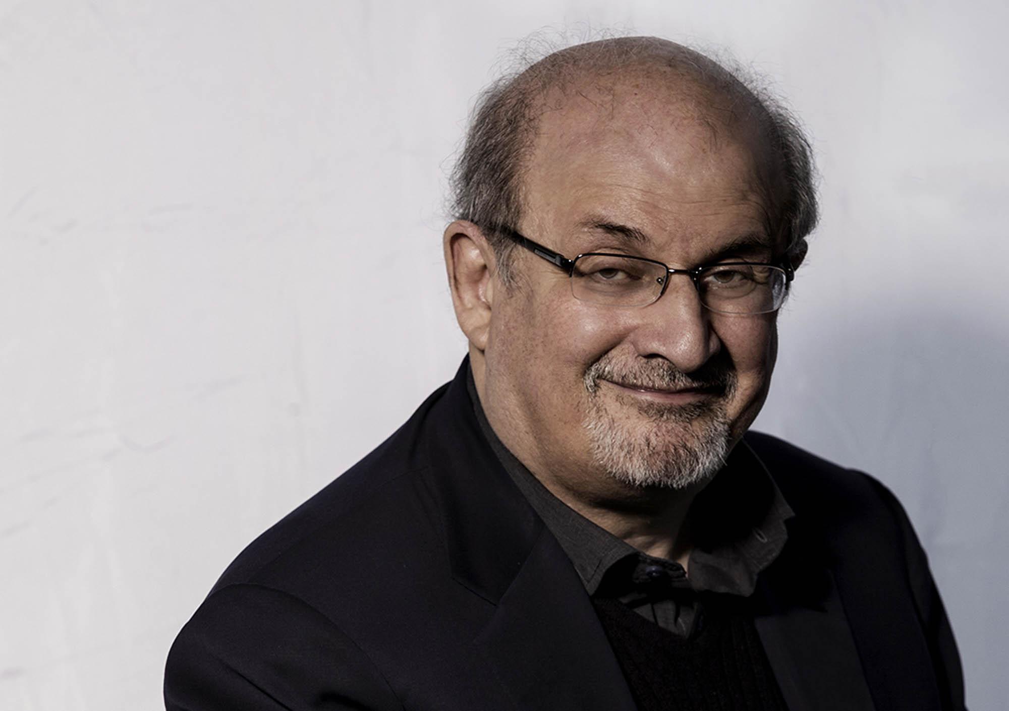 Salman Rushdie Portrait © Nick Gregan Photographer