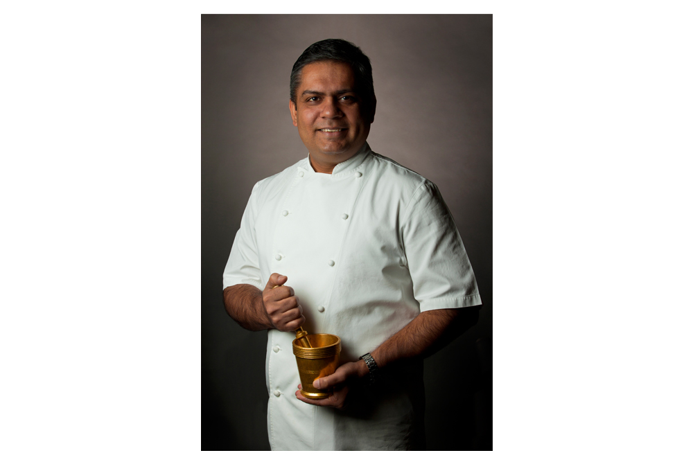 Chef Vivek Singh of The Cinnamon Club Portrait Photographer in London Nick Gregan