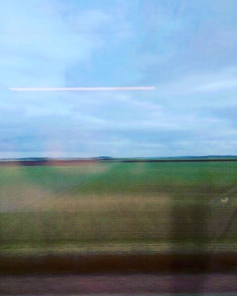 French countryside whizzing by at 300 kph. Looking forward to getting home after a brilliant weekend in