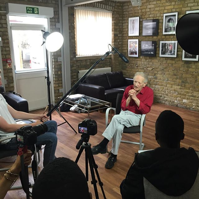 Shooting of the legendary Fred Whisker @cameraclubuk for @wimbookfest @chocolatefilms project.
